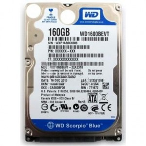LAPTOP HDD 160 GB WD SATA