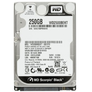HDD 250 GB LAPTOP SATA WD